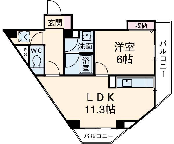 中目黒参番館・303号室の間取り