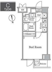 レジディア西小山・0201号室の間取り