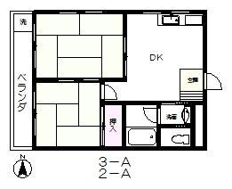 Mビル 2-A号室の間取り