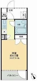 ハウス・エプタ・208号室の間取り