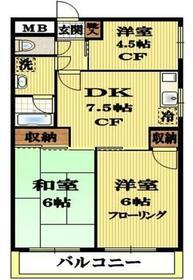 リエス国分寺恋ヶ窪 604号室の間取り