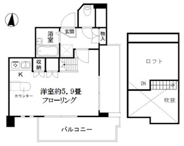 アート・フル上石神井Ⅱ・401号室の間取り