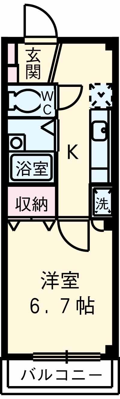 グレース成城Ⅱ・101号室の間取り
