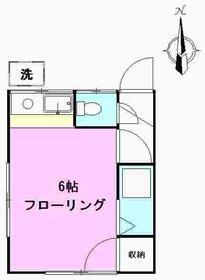 ハイムYU・203号室の間取り
