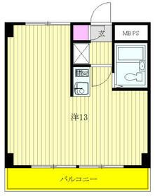 菊野台KYハイツ・406号室の間取り