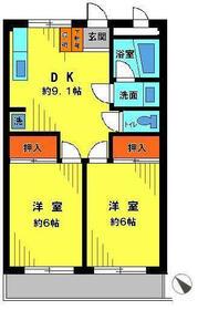 ストークハイツII・206号室の間取り