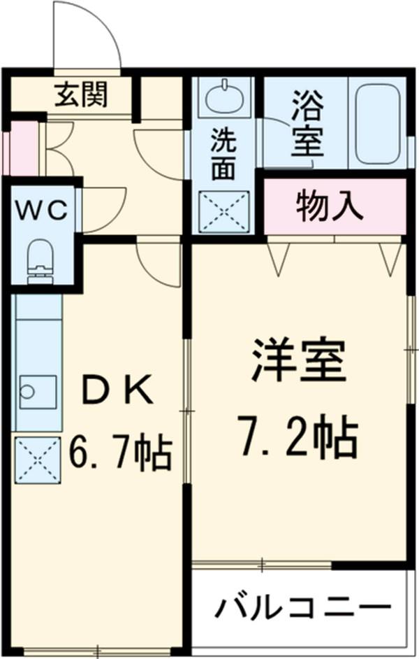 mk5・201号室の間取り