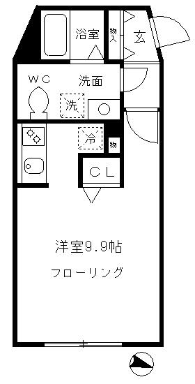 アート・フル渋谷松見坂・102号室の間取り