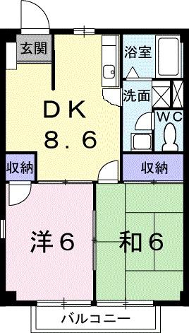 ニュ-シティ和田山・02040号室の間取り