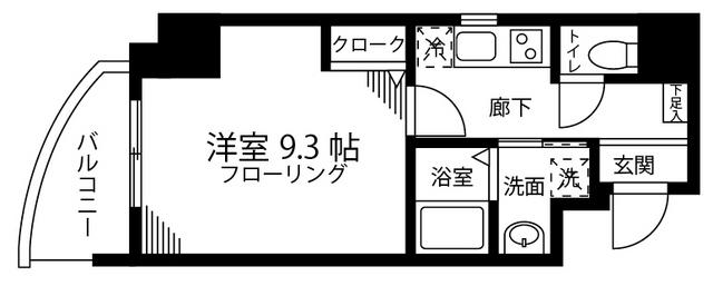 リル ニノハシ・302号室の間取り