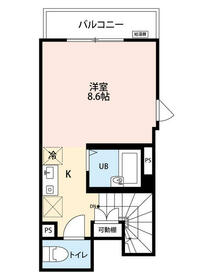 KTS笹塚 203号室の間取り
