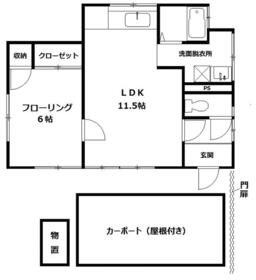 小山アパート・1号室の間取り