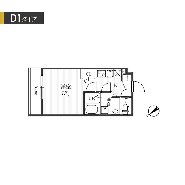 新宿夏目坂コート・204号室の間取り