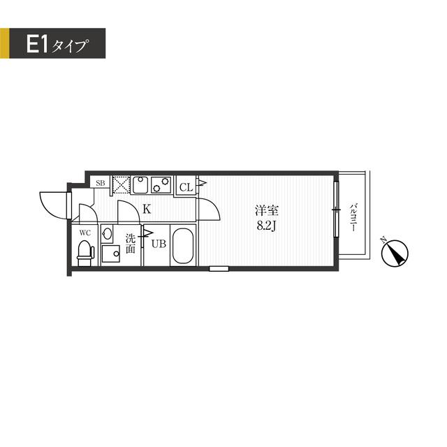 新宿夏目坂コート・206号室の間取り