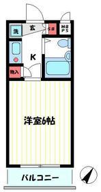 クリオたまプラーザ壱番館 203号室の間取り