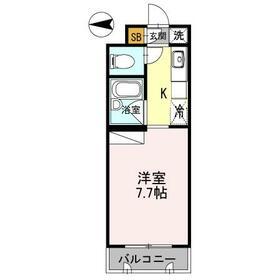 コンフォール中川 203号室の間取り