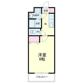 Mansion JULIA(マンションジュリア) 205号室の間取り