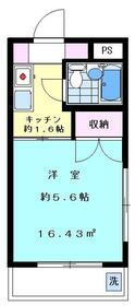 ステーションプラザ羽田・503号室の間取り