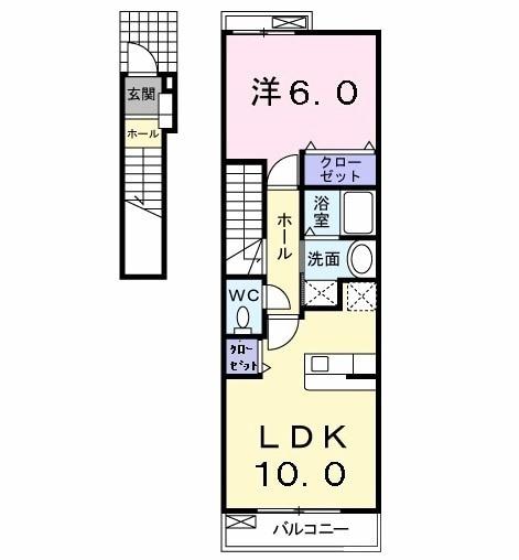 サニーレジデンス KⅡ・02030号室の間取り