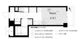ライオンズマンション八丁堀第2・1106号室の間取り