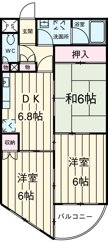 ルートマンション・405号室の間取り