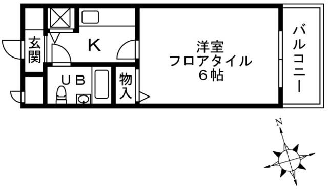 持田レジデンス・313号室の間取り