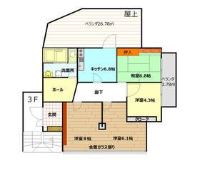 今井町福富工業ビル3F・301号室の間取り