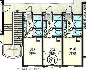 アップルハウス金沢八景2階ロフト付 204号室の間取り