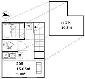 インベスト大崎Ⅲ・205号室の間取り