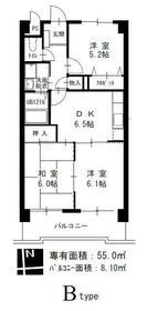 M'S HOUSE akanabe 402号室の間取り