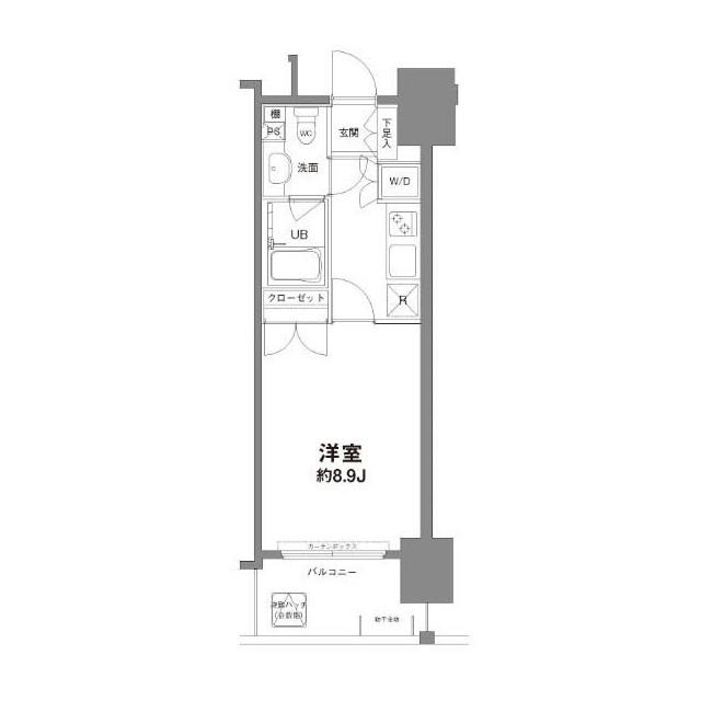 コンフォリア新宿御苑Ⅰ・0602号室の間取り