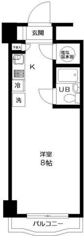 ニューライフ新宿・907号室の間取り