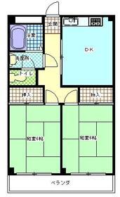 サンアベニューⅠ・M・105号室の間取り