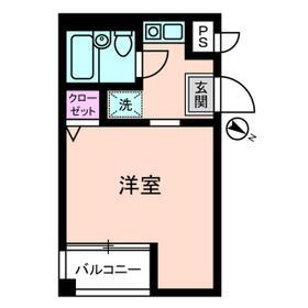 豊町中央コーポ 0203号室の間取り