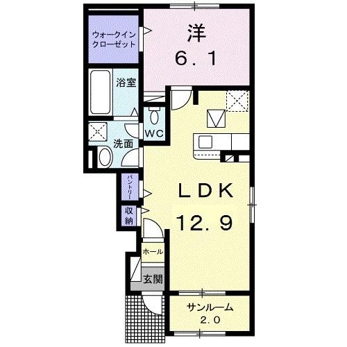 第四東雲 B・01030号室の間取り