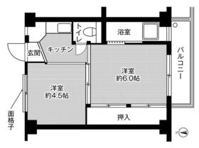 ビレッジハウス玖須美2号棟・0402号室の間取り
