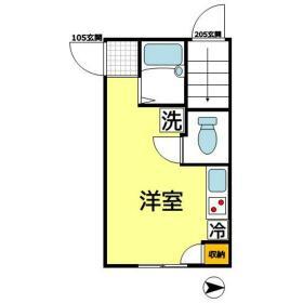 リカーサ浜田山 105号室の間取り