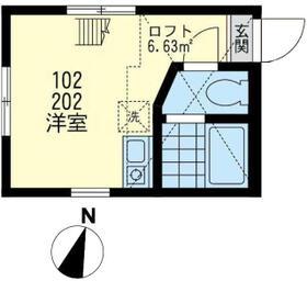 ユナイト安善パラティーノの杜・202号室の間取り