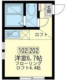 ユナイト子安台グリーンルーム・102号室の間取り