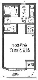エストレジデンス狛江・102号室の間取り