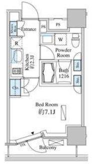 ベルファース芝浦タワー・906号室の間取り