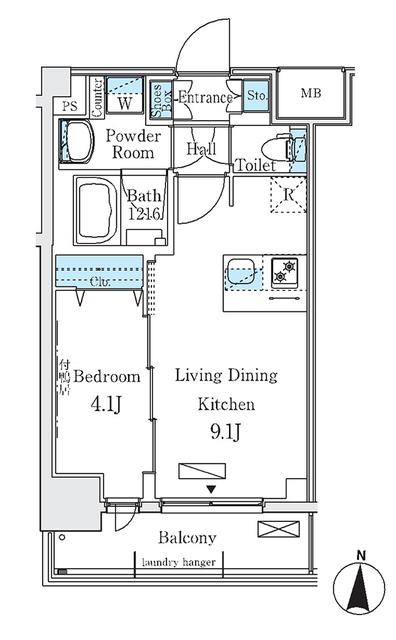 ディームス東陽町Ⅱ・310号室の間取り