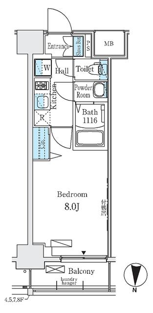 ディームス東陽町Ⅱ・707号室の間取り
