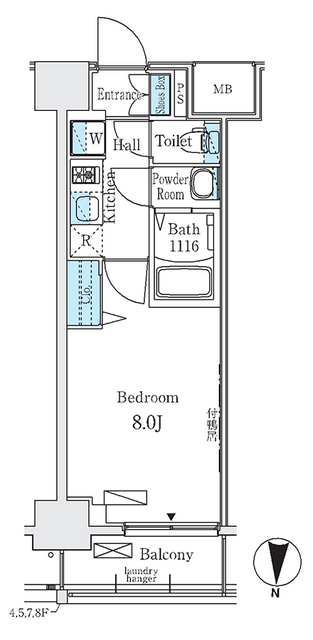 ディームス東陽町Ⅱ・807号室の間取り