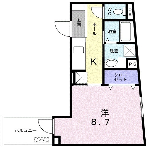 ビレッジ アップ 渋谷・04040号室の間取り
