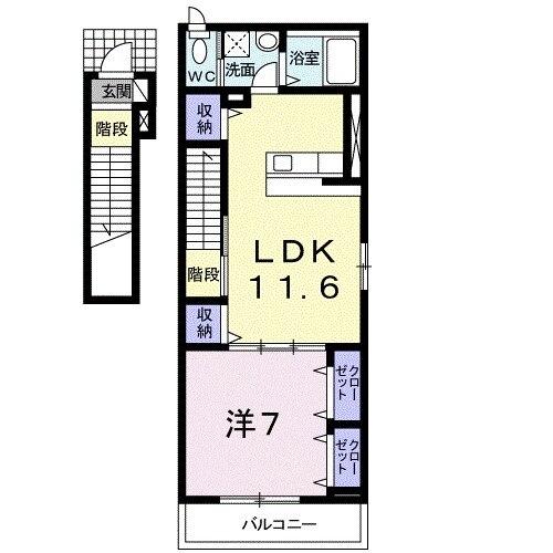 桜 115 HOMES・02010号室の間取り