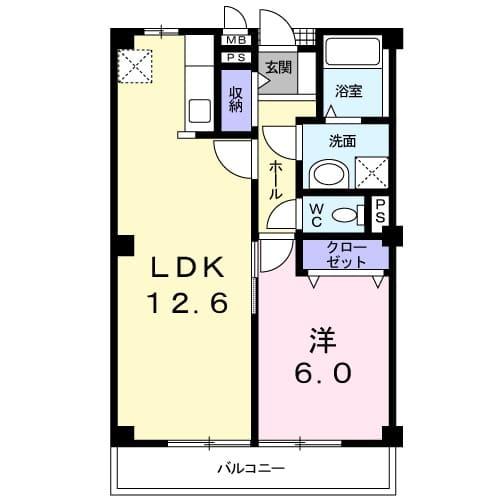 R50 villa N棟・02020号室の間取り