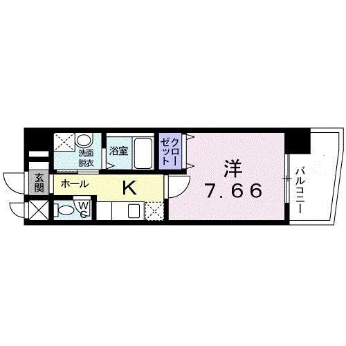 ラッフィナート羽田・06040号室の間取り