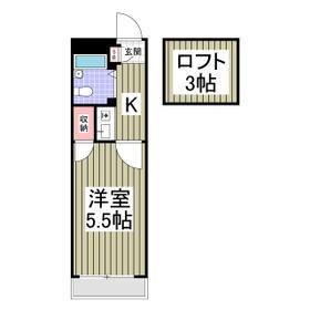ジェイテラス鎌倉・208号室の間取り