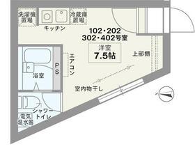 COCOFLAT田端Ⅲ 202号室の間取り